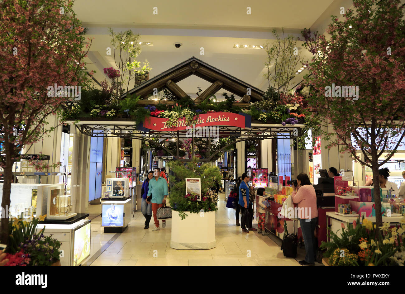 Annual Macy\'s Spring Flower Show in Macy\'s department store in ...