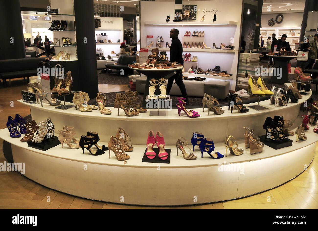 Women shoes department in Macy\'s department store in Herald Stock ...