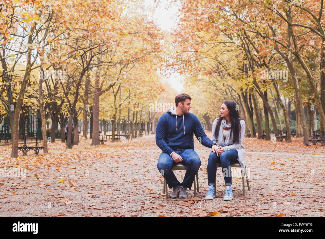 man and woman relationship, family psychology concept, love and dating - Stock Image