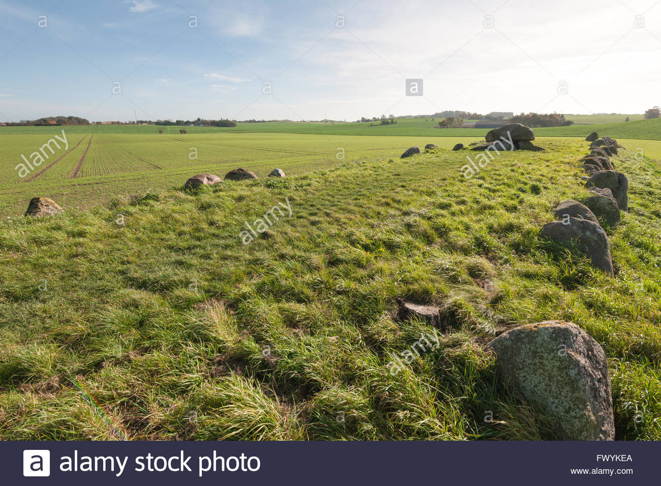 King Humbles grave, Humble, Langeland, Denmark / Humble - Stock Image