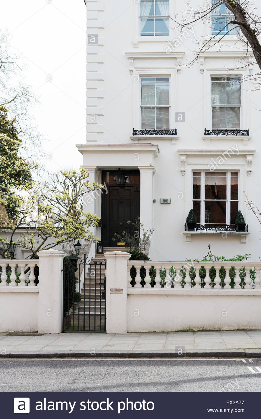 Elegant Period Townhouse, London Notting Hill - Stock Image