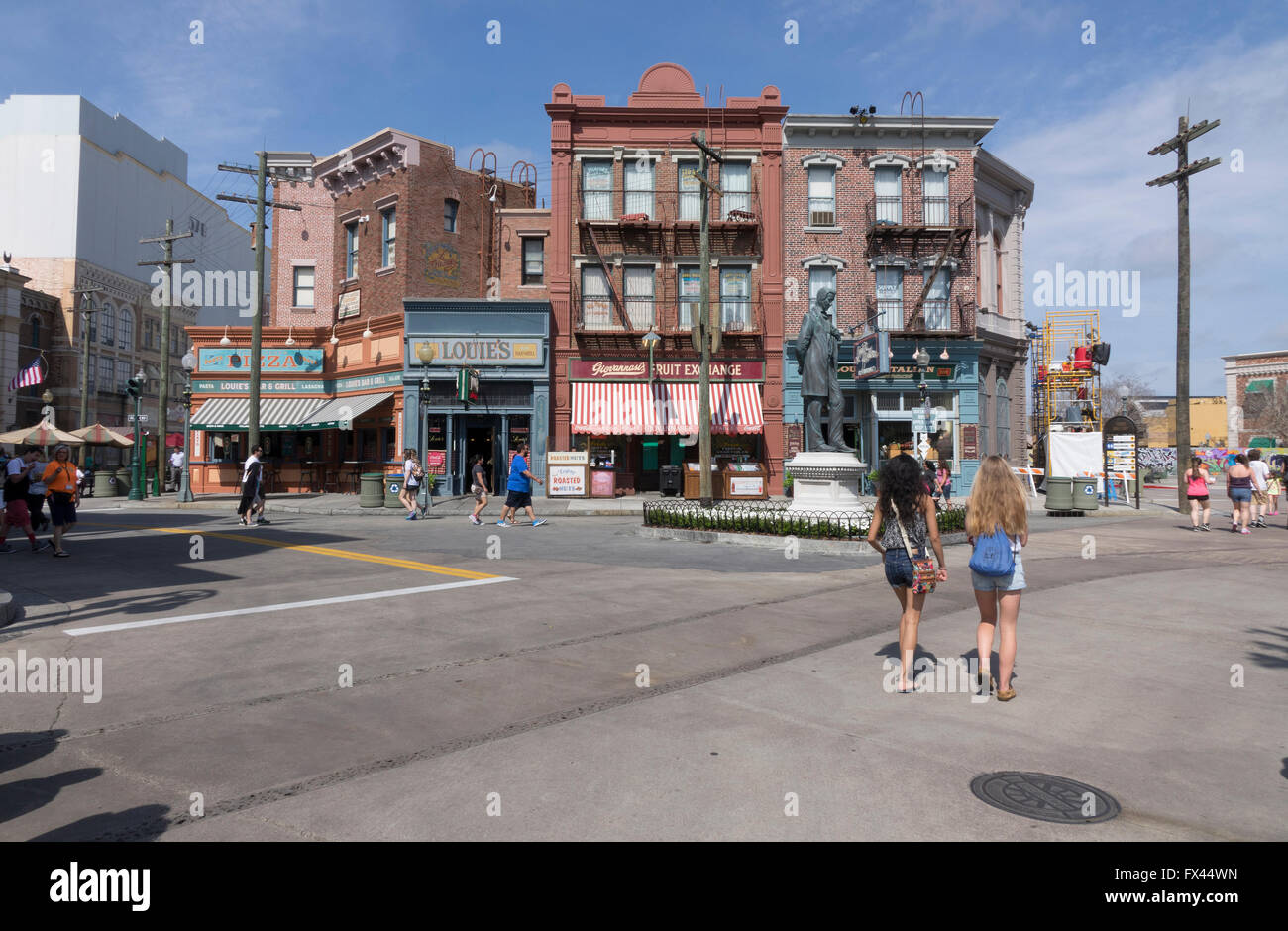 Little Italy Back Lot In The San Francisco Area Of Universal Studios Theme Park Orlando Florida Stock Photo