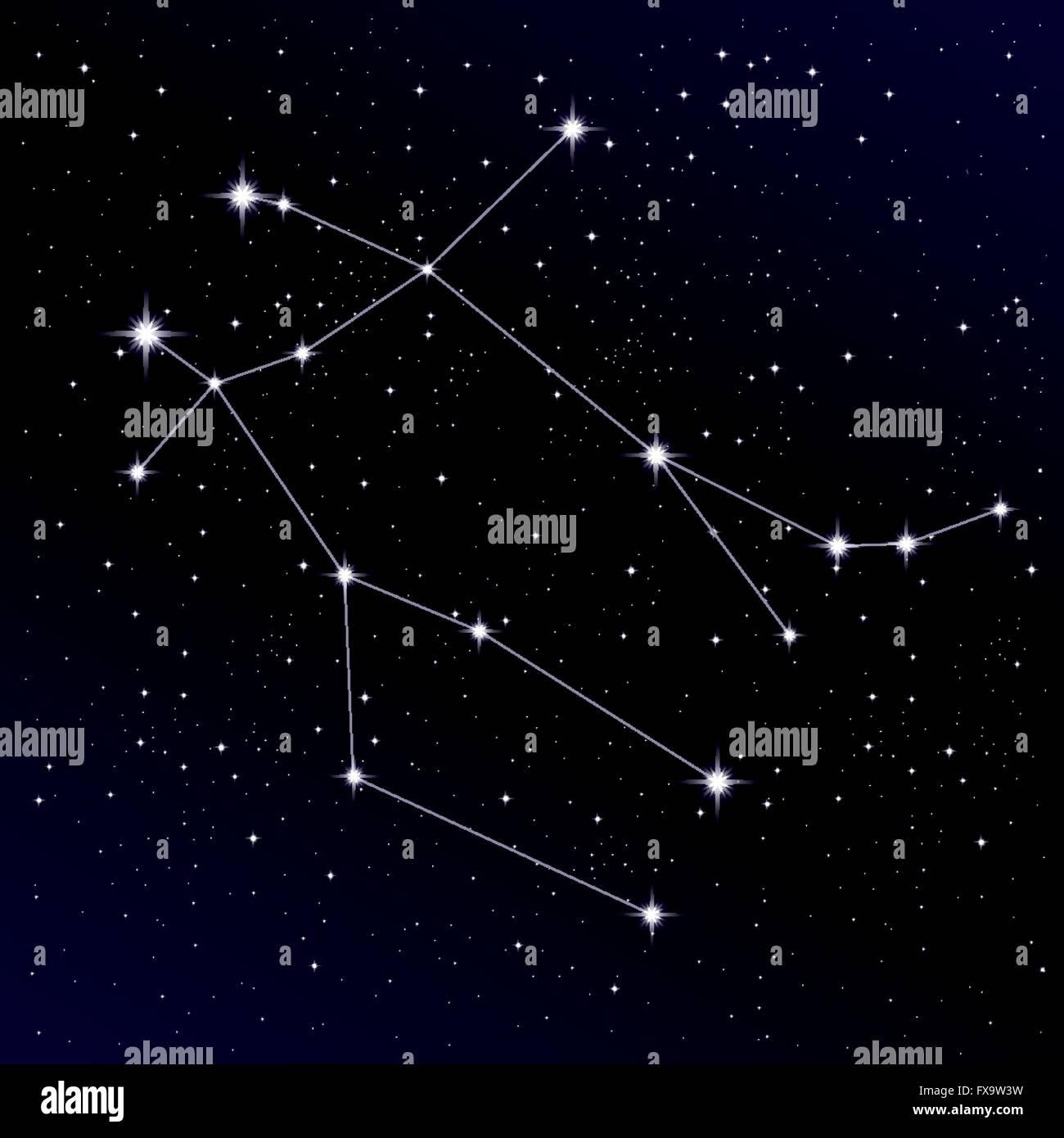 Gemini constellation Stock Vector