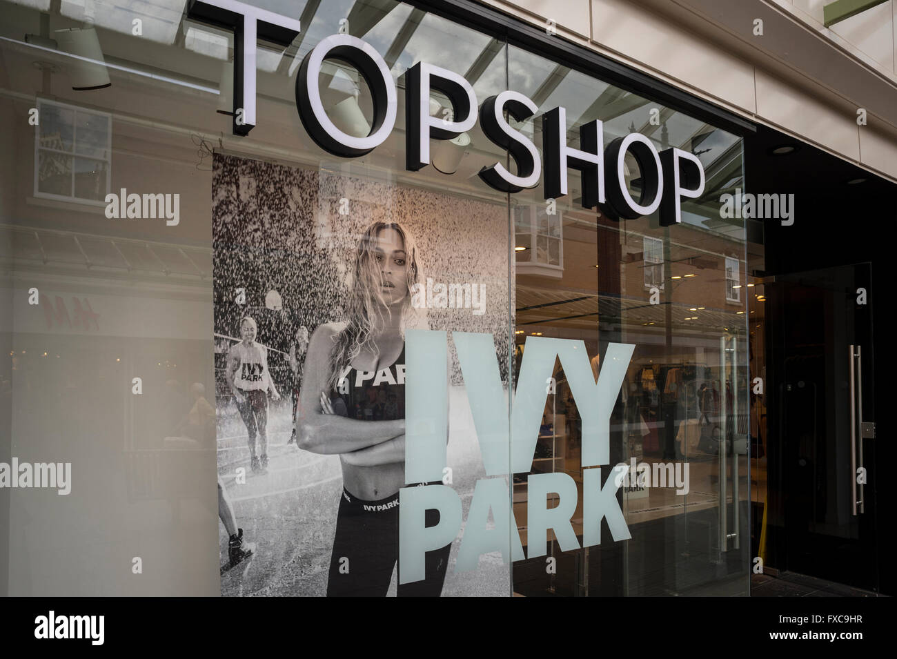 2b00a96c4a9fec Beyonce s Ivy Park activewear clothing brand launches nationwide in Topshop  stores in the UK today 14th April 2016. Topshop Sailsbury