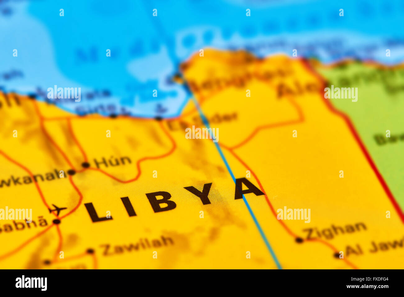 Libya country in africa on the world map stock photo 102330484 alamy libya country in africa on the world map gumiabroncs Gallery
