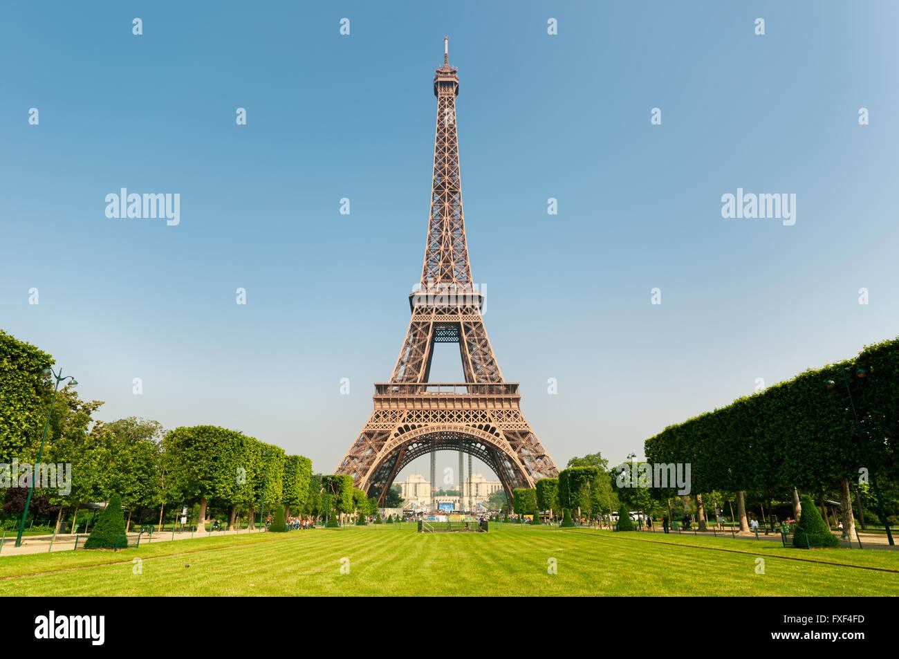 Eiffel Tower, Paris, France. - Stock Image