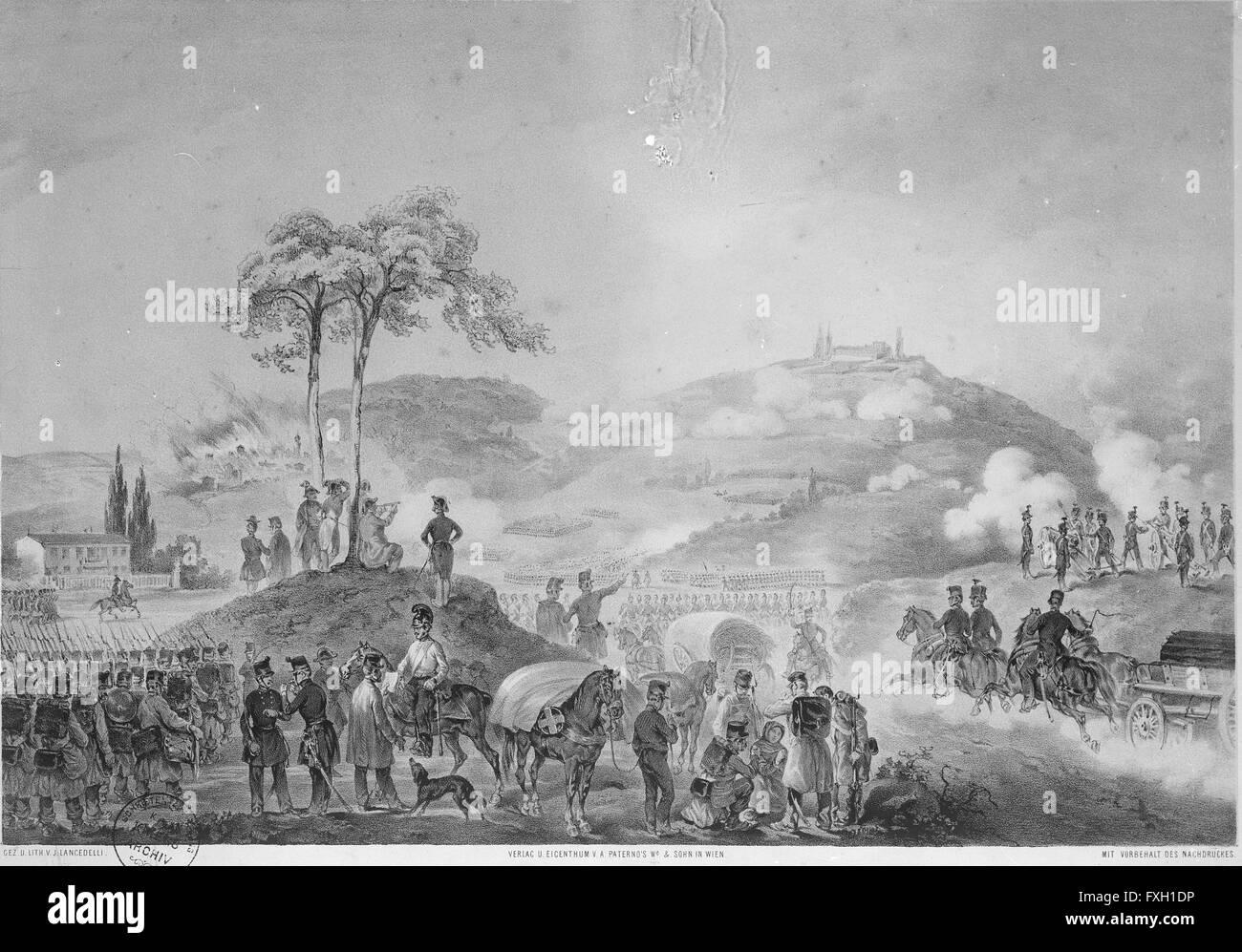 Schlacht bei Custozza 1848 - Stock Image