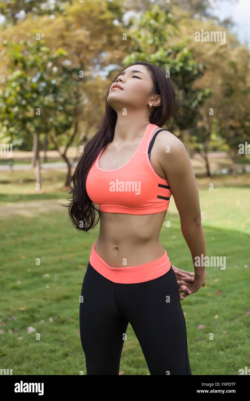 Asian woman fitness