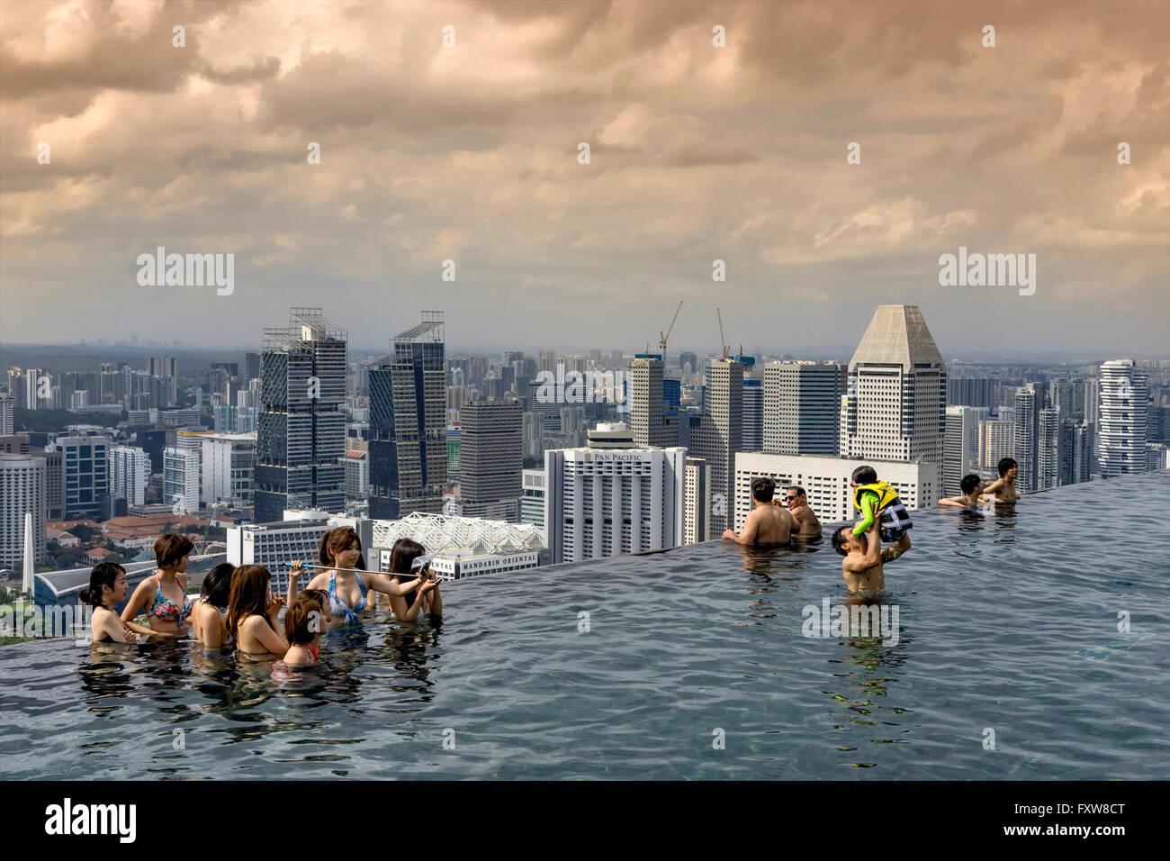 marina bay sands infinity pool roof terasse marina bay singapore singapur southest asia - Marina Bay Sands Pool