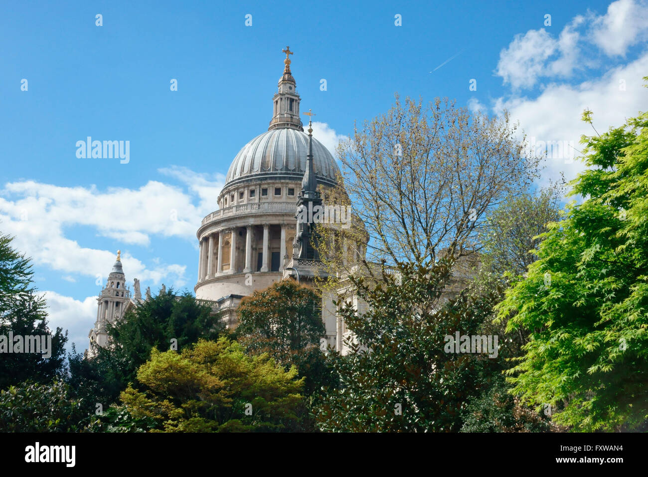St Paul's Cathedral, in the City of London, England, Great Britain, United Kingdom, GB, UK - Stock Image