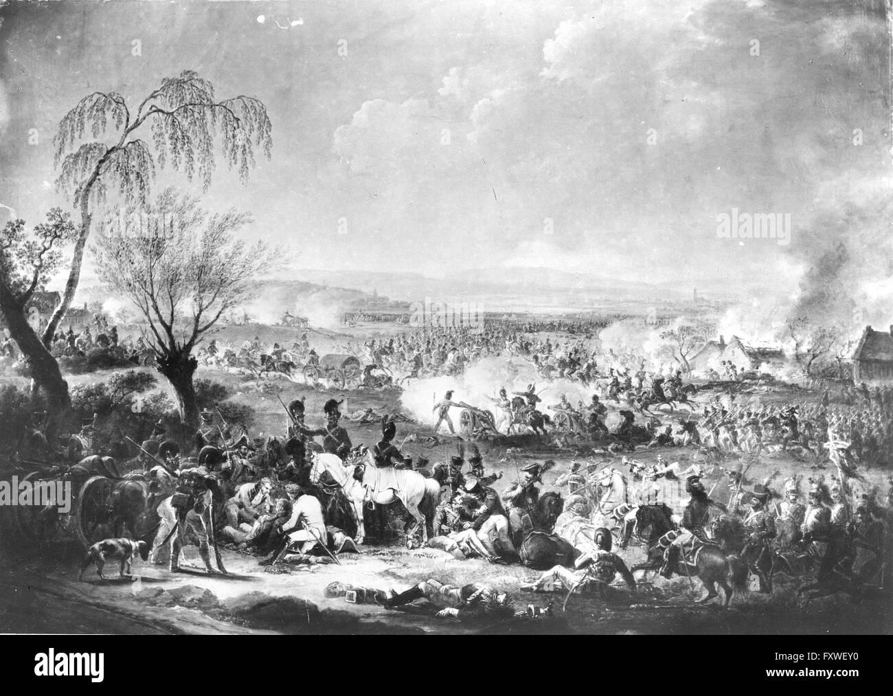 Schlacht bei Wagram 1809 - Stock Image