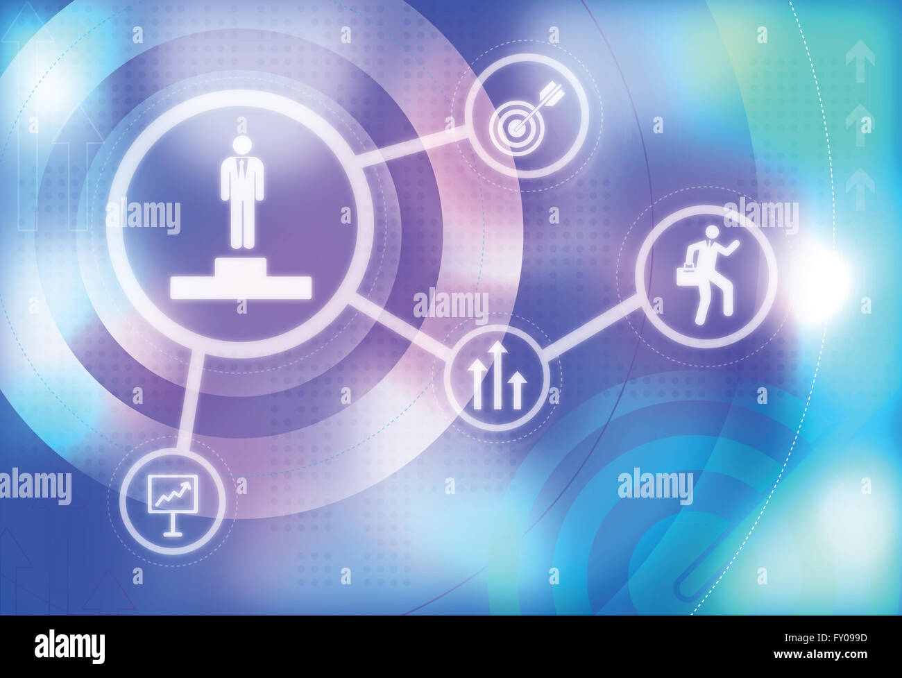 Illustrative image of business target, competition, incentive and funding - Stock Image