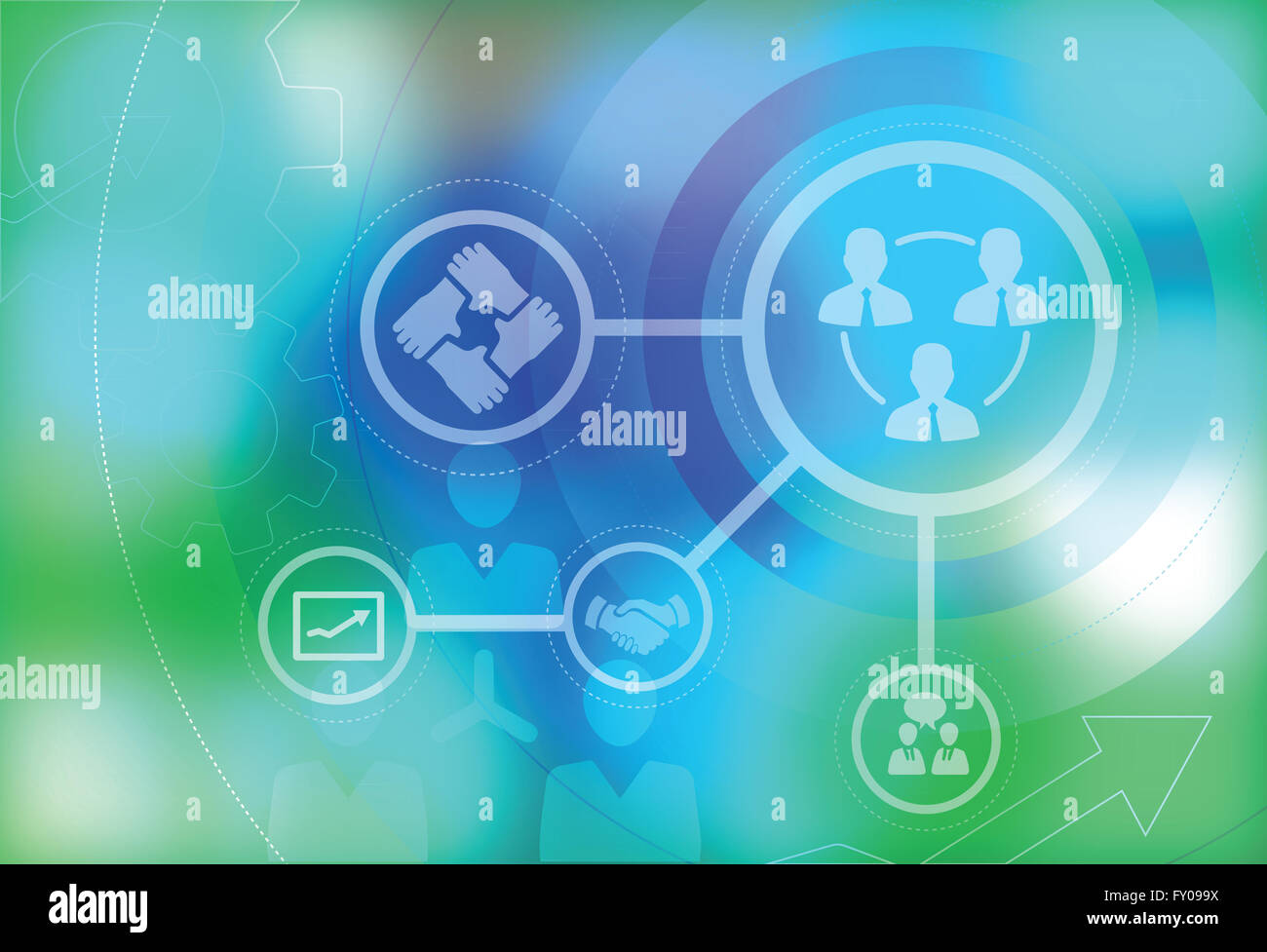 Illustrative image representing business teamwork - Stock Image