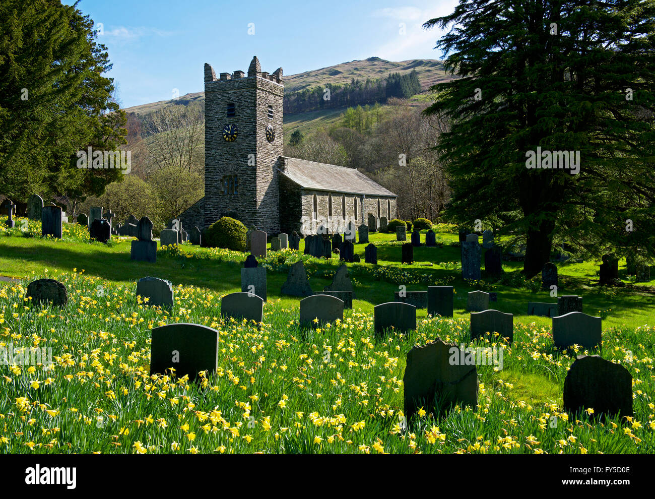 Jesus Church, Troutbeck, Lake District National Park, Cumbria, England UK Stock Photo
