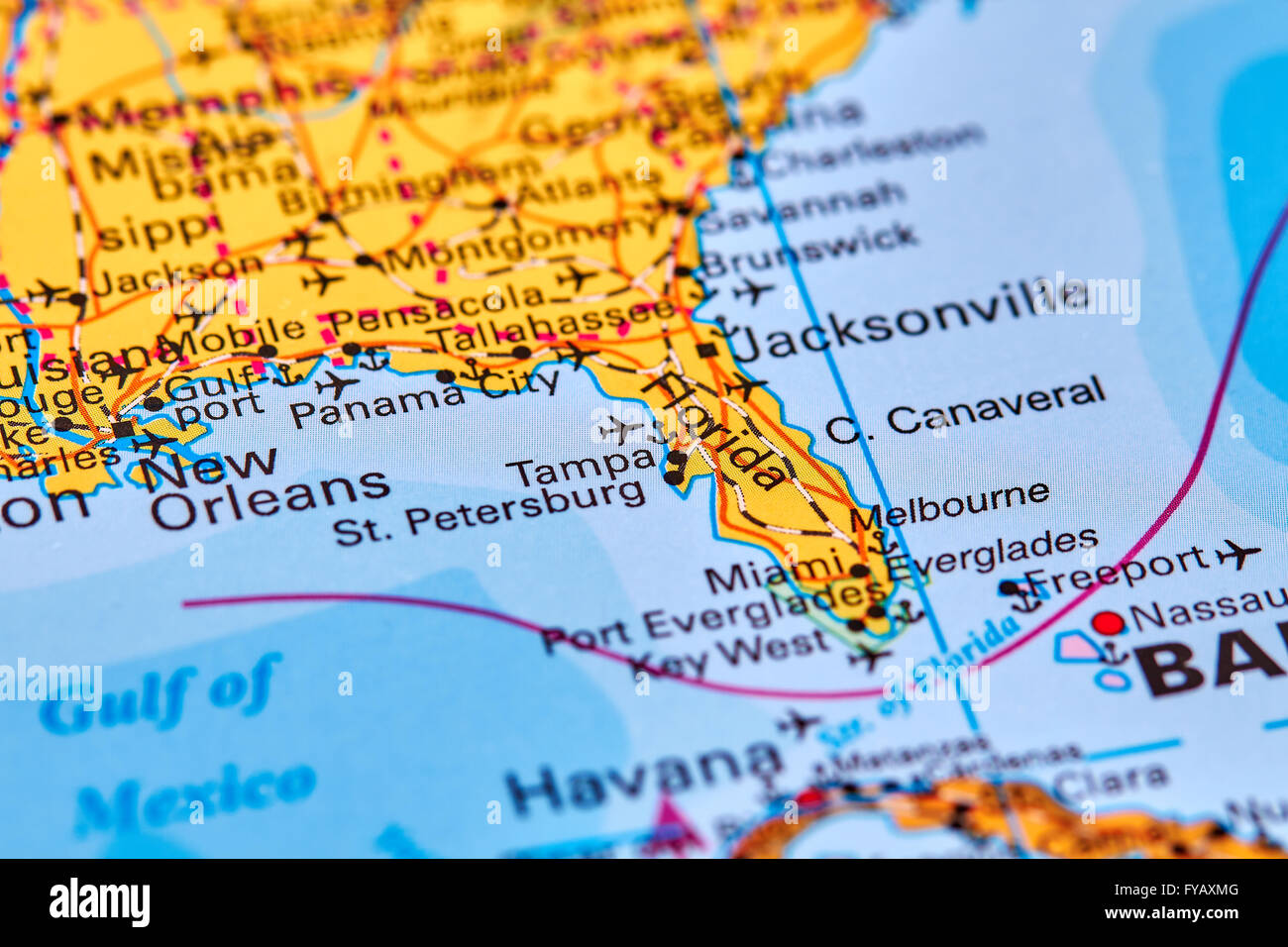 Flordia State Map.Florida State In Usa On The World Map Stock Photo 102888032 Alamy