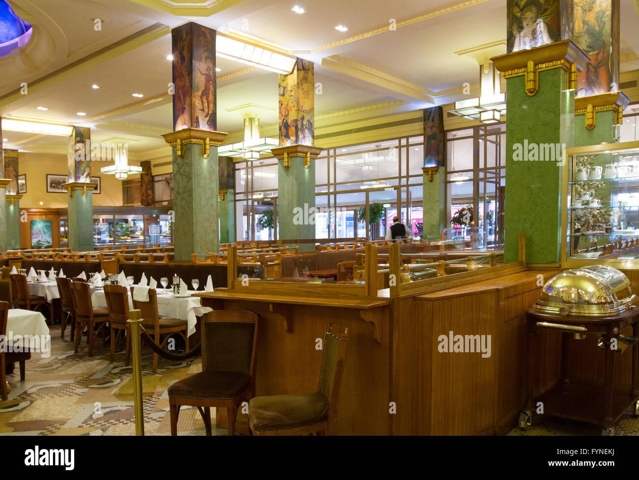 La Coupole restaurant Paris France Stock Photo