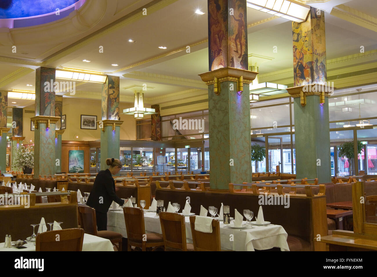 La Coupole restaurant in Montparnasse Paris France Stock Photo