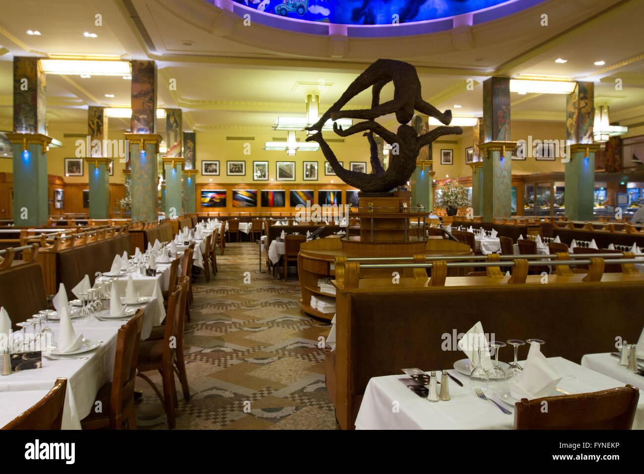 The historic La Coupole restaurant Paris France Stock Photo
