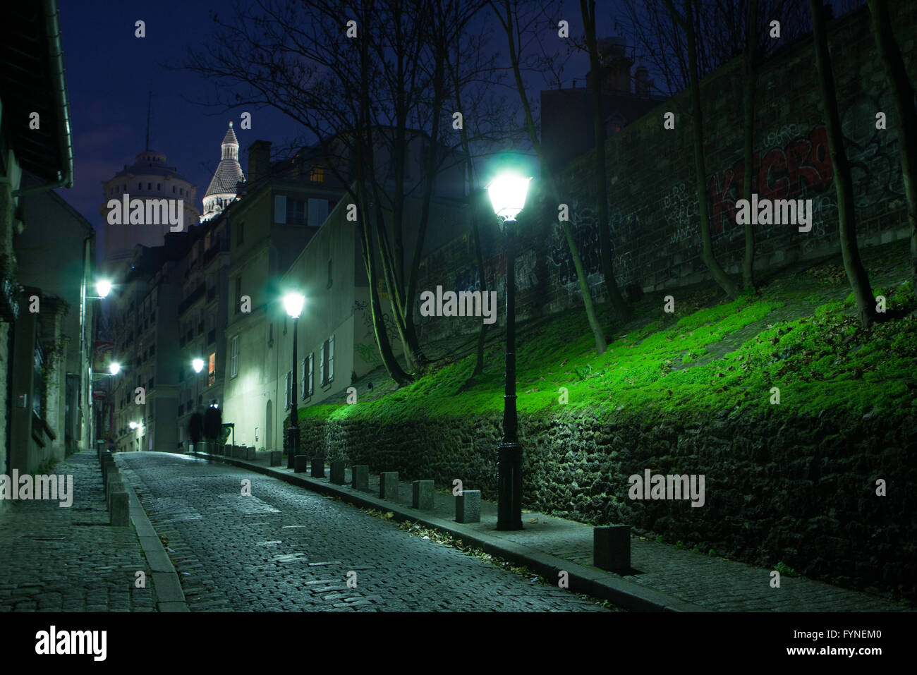 Montmartre at twilight Paris France Stock Photo