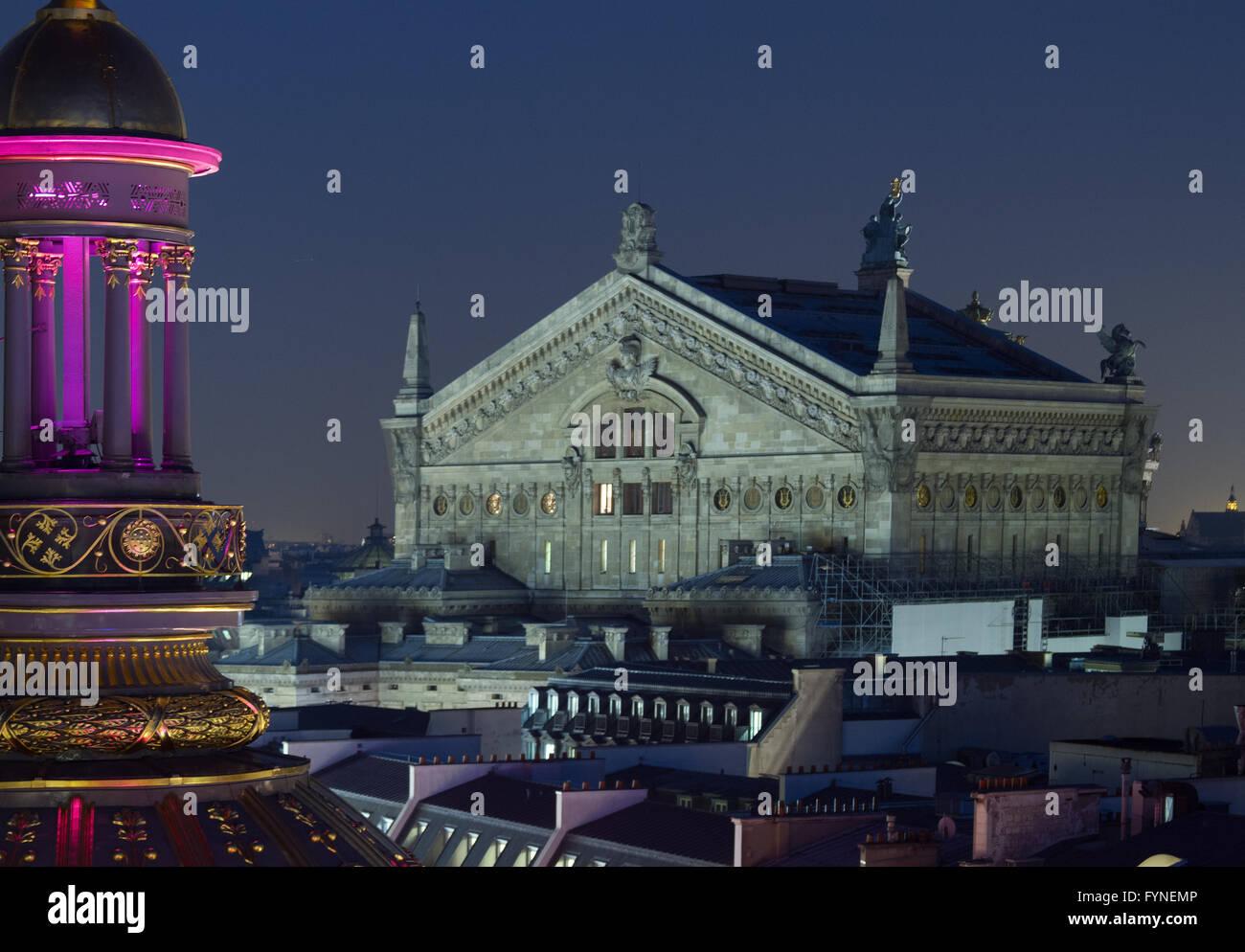 The Opera House at twilight Paris France Stock Photo