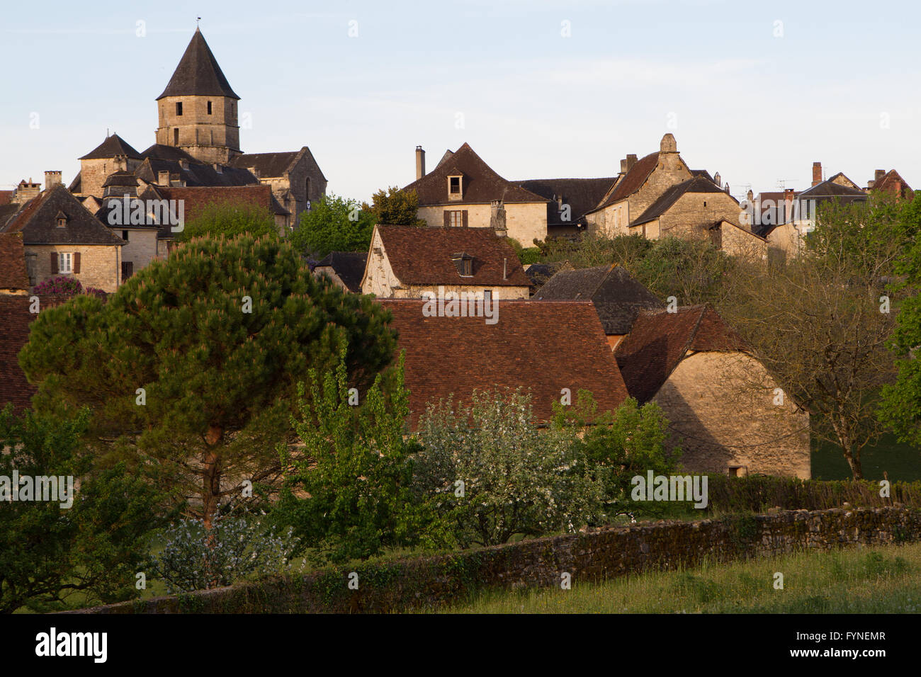 Charming village Saint Robert Corrèze Perigord South West France Stock Photo