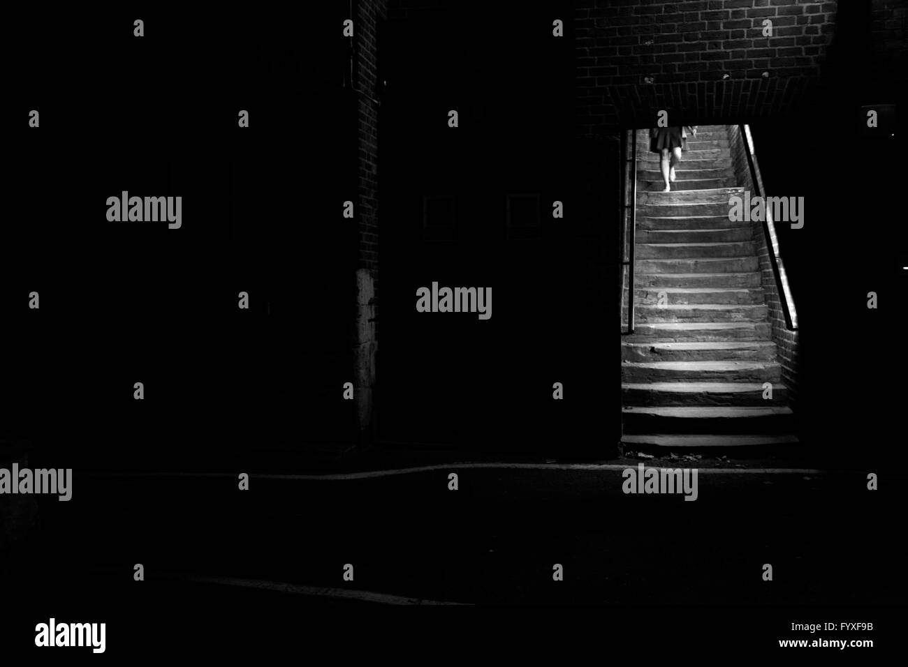 Essex Street steps, Embankment, London, UK Stock Photo