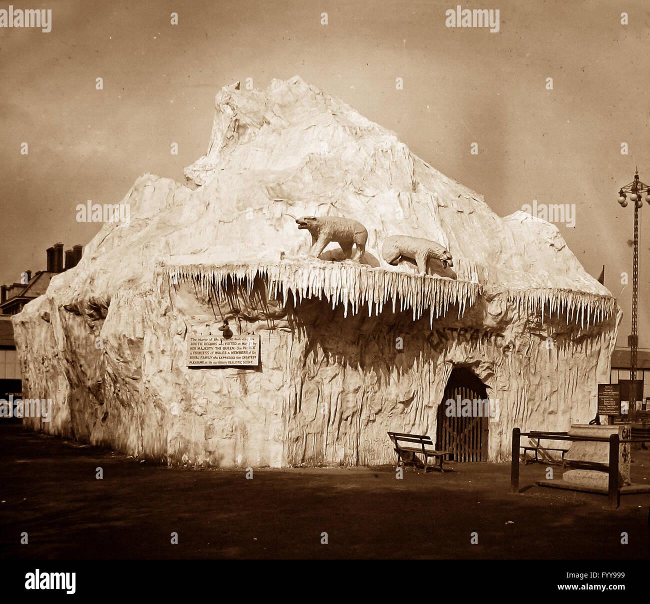 Royal Naval Exhibition 1891 - The Iceberg Stock Photo