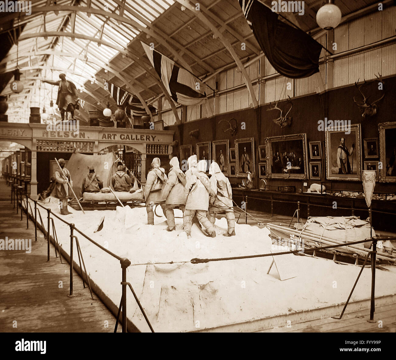 Royal Naval Exhibition 1891 - Arctic tableau Stock Photo