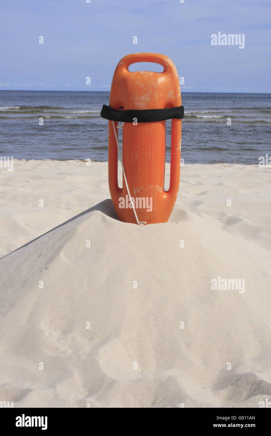 float of Baywatch, Baltic Sea, Germany Stock Photo