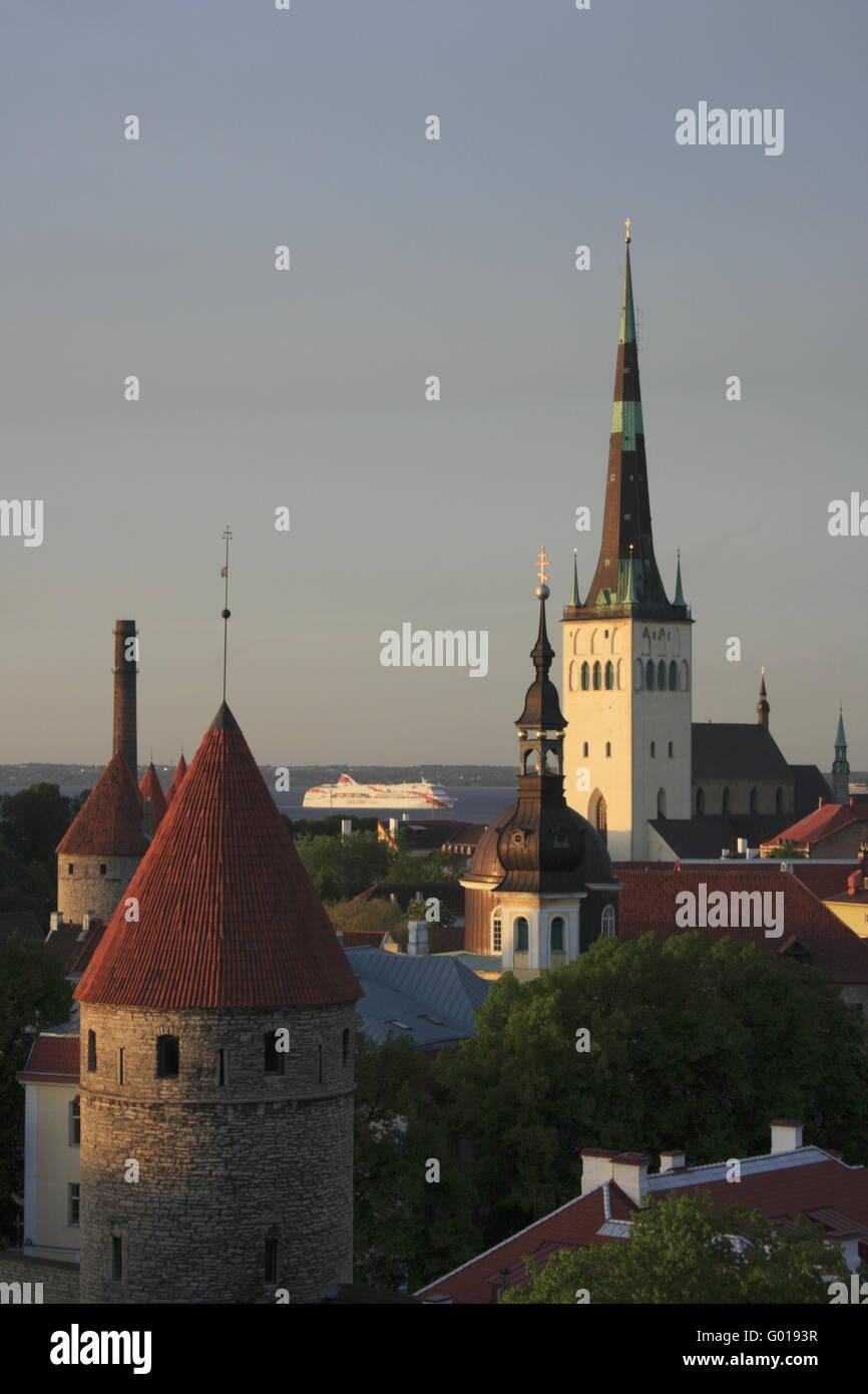 old town of Tallinn, Estonia - Stock Image