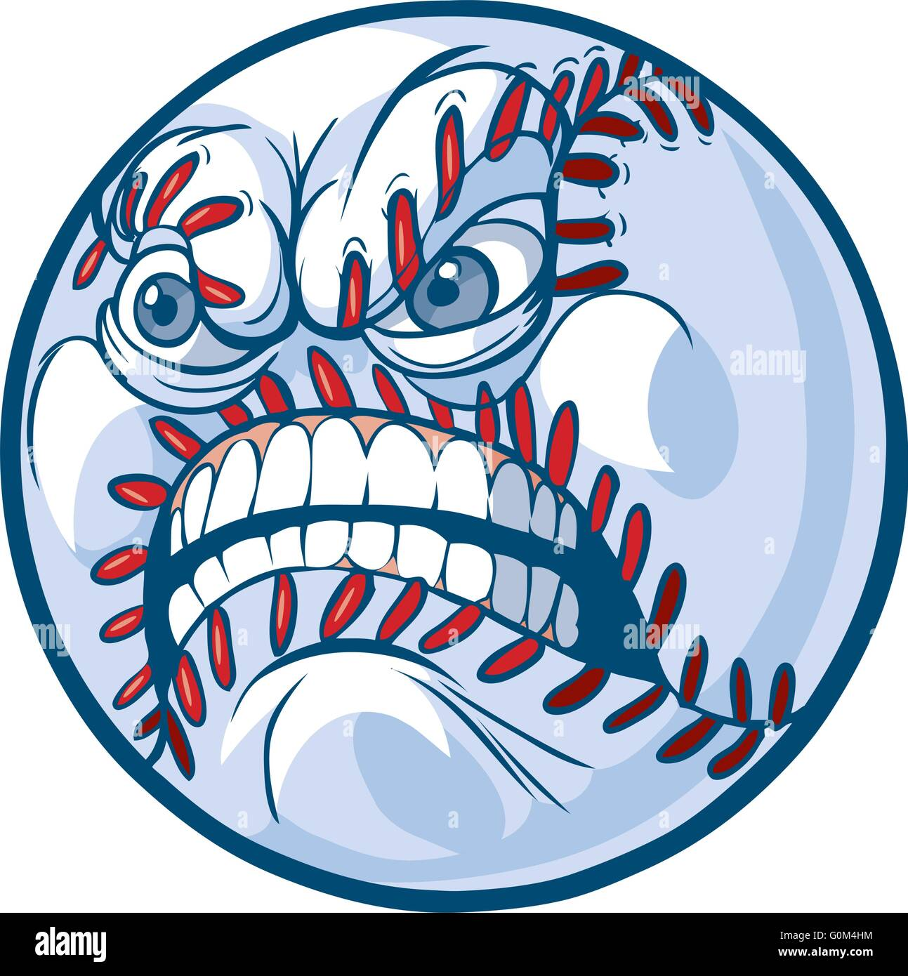vector cartoon clip art illustration of a baseball or softball with rh alamy com softball player vector art softball player vector art