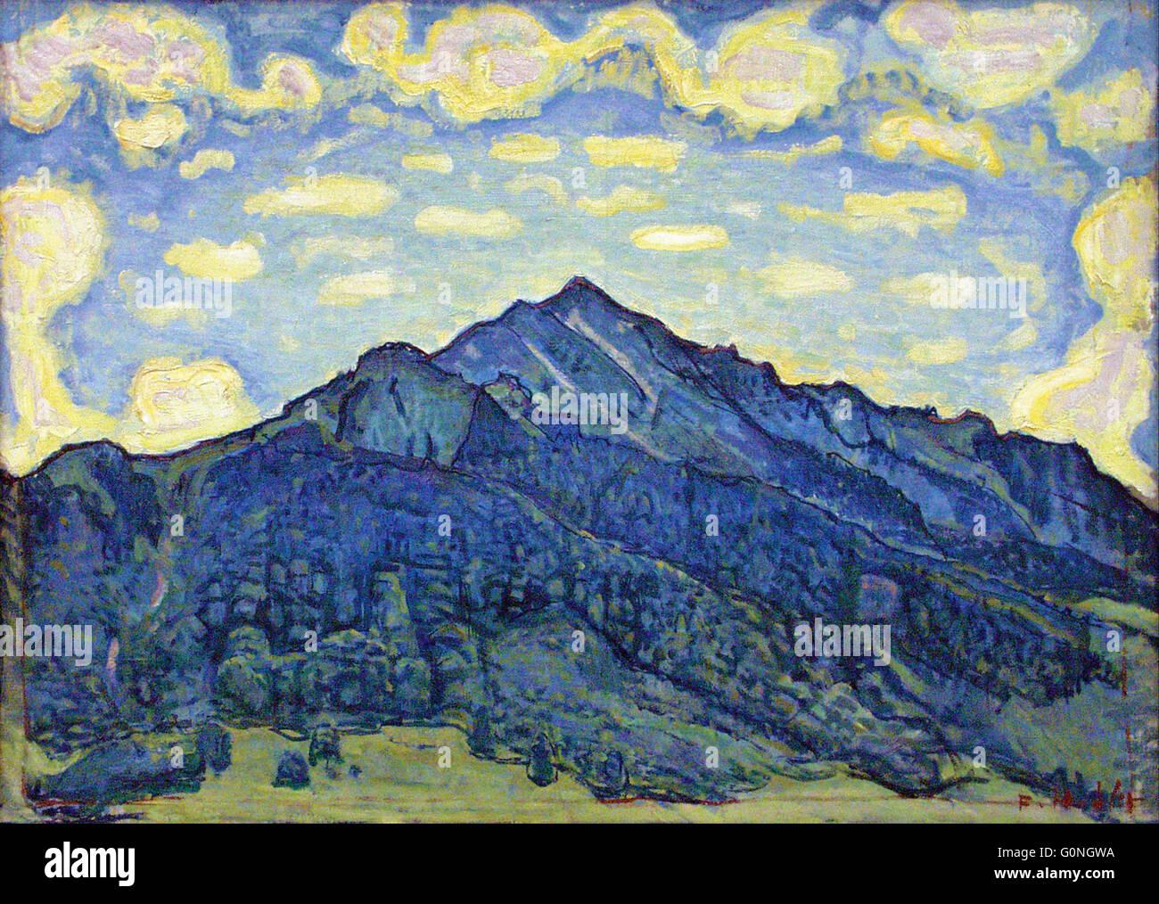 Ferdinand Hodler - Landschaft in den Schweizer Alpen - Stock Image