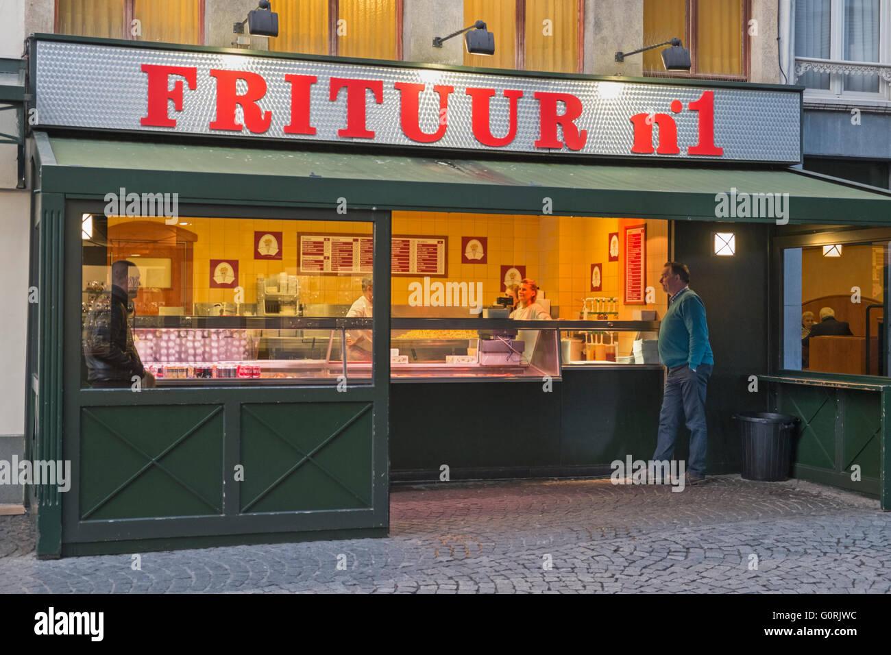 Frituur Number 1 Antwerp Belgium Stock Photo