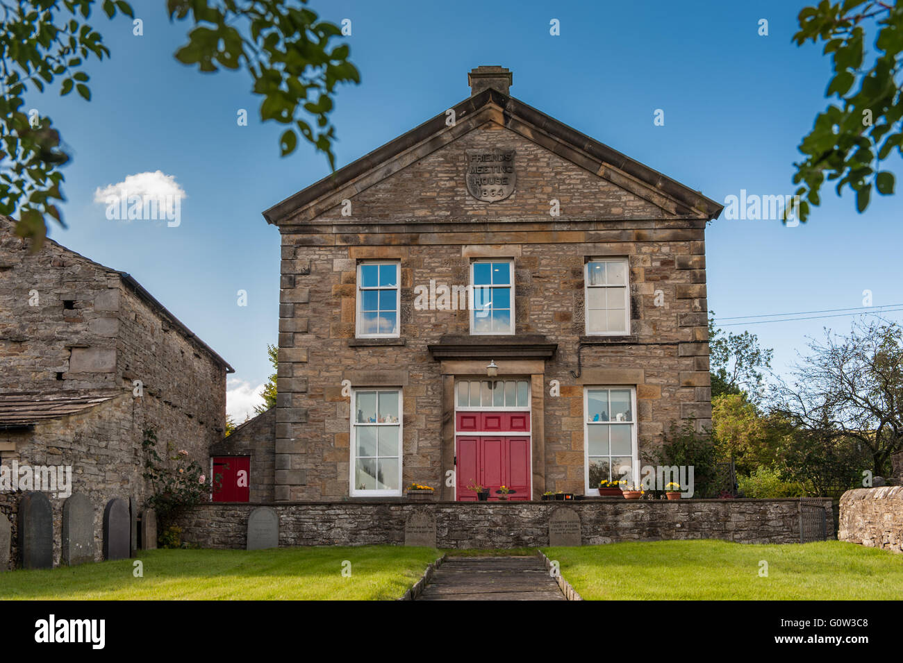 The Quaker Meeting House at Carperby in Wensleydale Stock Photo