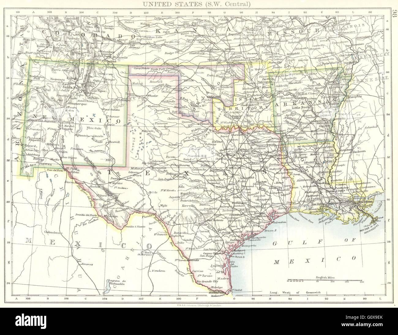 USA SW Central New Mexico Texas Oklahoma