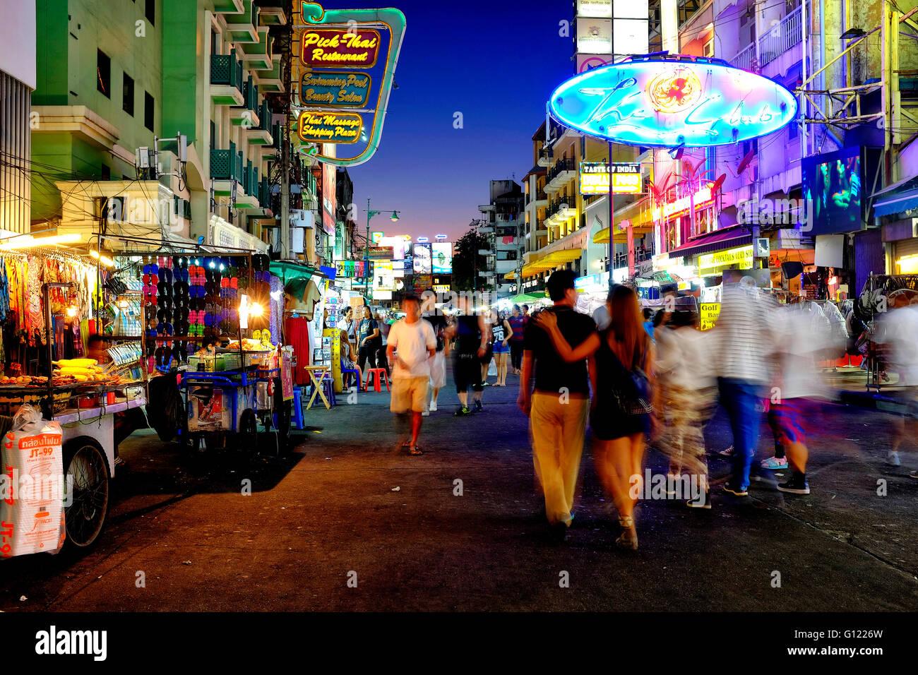 Khaosan Road, Bangkok, Thailand - Stock Image
