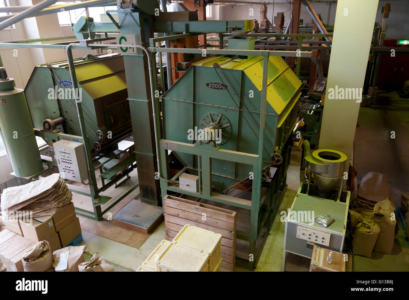 The industry for processing green tea, Shizuoka, Japan - Stock Image