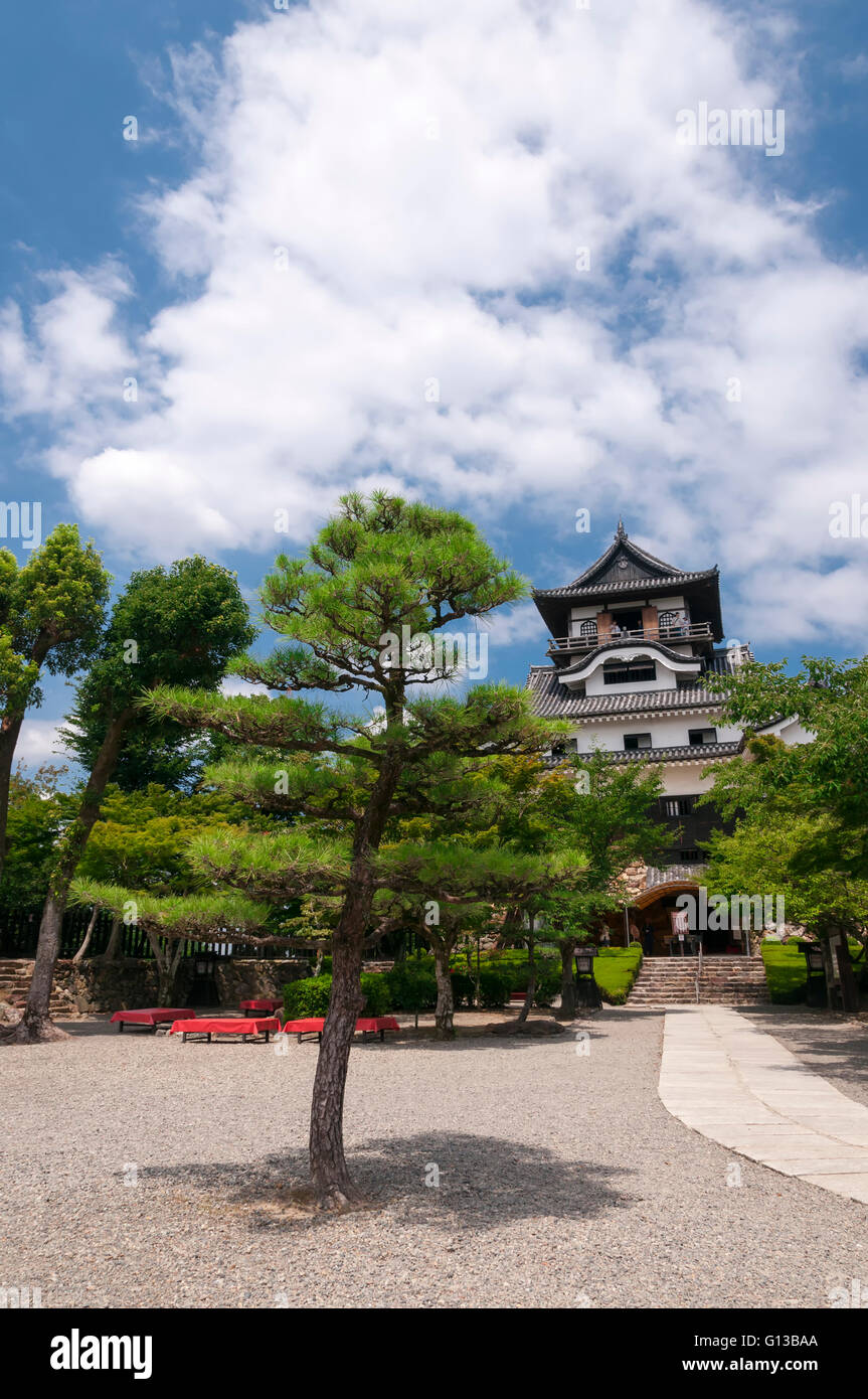 Front yard of Inuyama castle, Japan - Stock Image