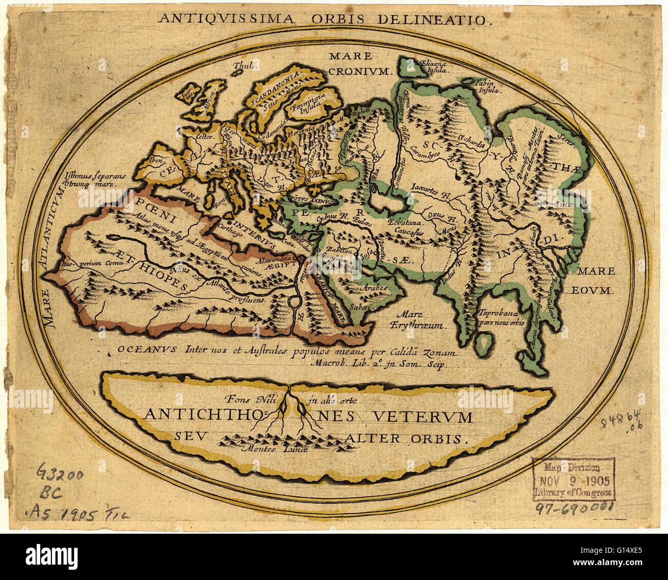 Map Of The Old World With Latin Text The Title Is Antiquissima - Where to buy old world maps