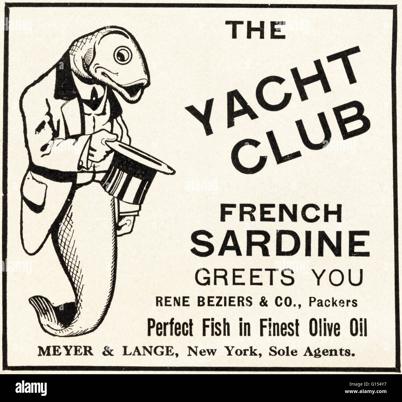 Original old vintage American magazine advert from the Edwardian era dated 1910. Advertisement advertising The Yacht - Stock Image