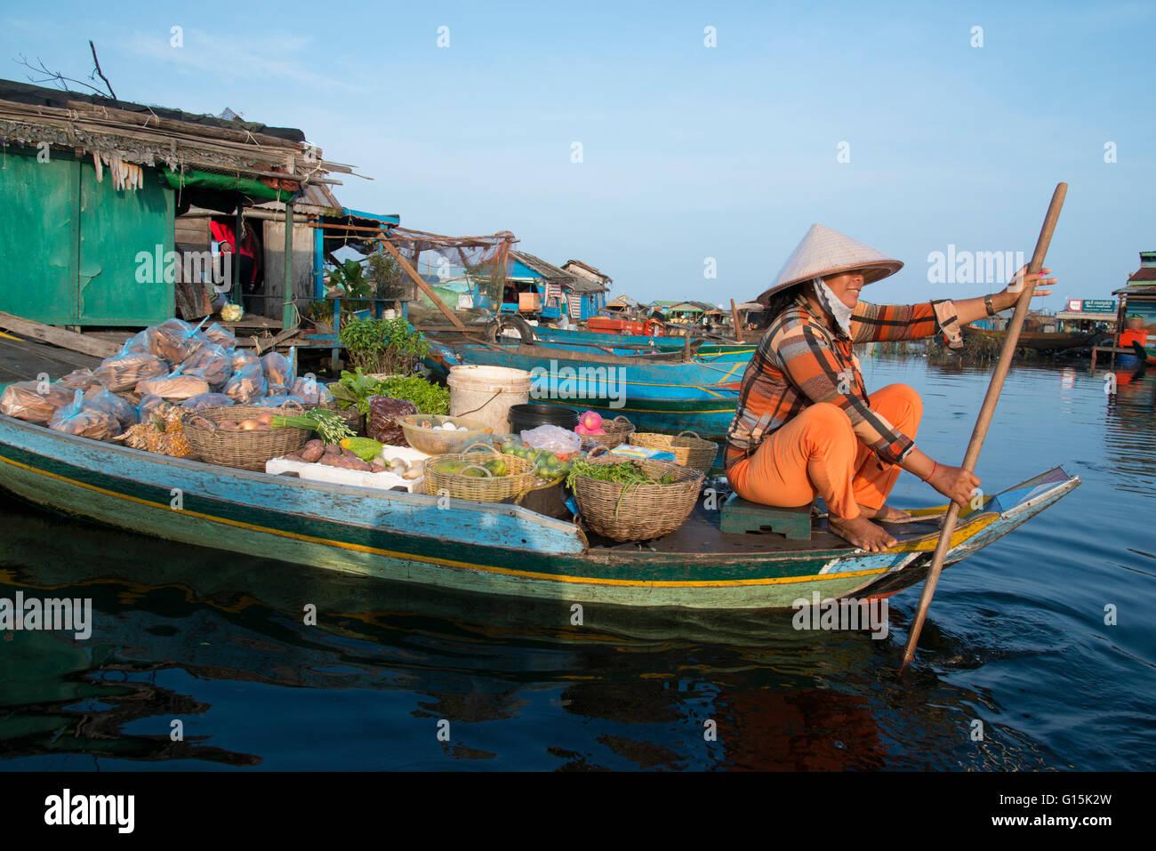 Kompong Luong floating village, Tonle Sap lake, Cambodia, Indochina, Southeast Asia, AsiaStock Photo