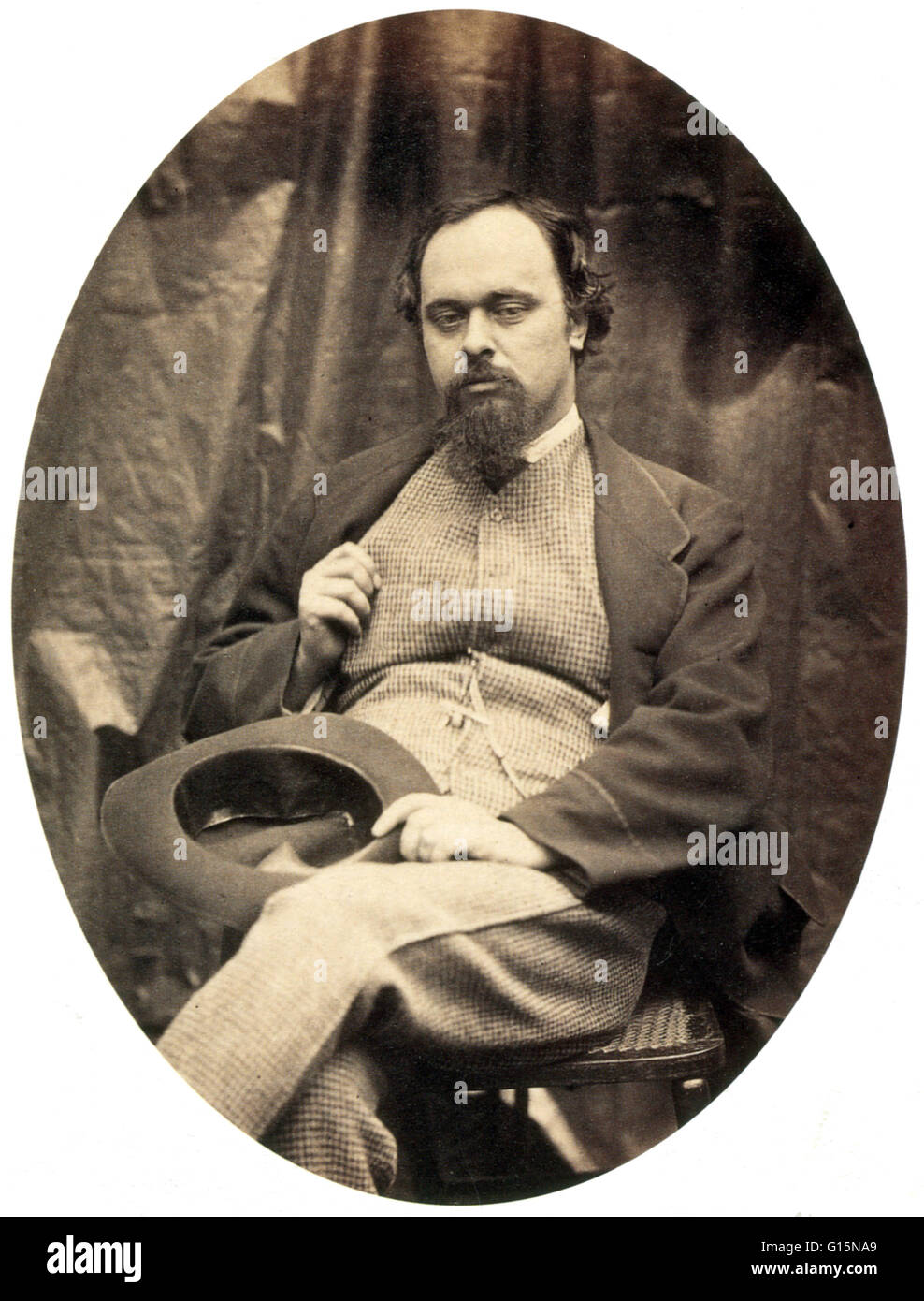 Dante Gabriel Rossetti (May 12, 1828 - April 9, 1882) was an English poet, illustrator, painter and translator. - Stock Image