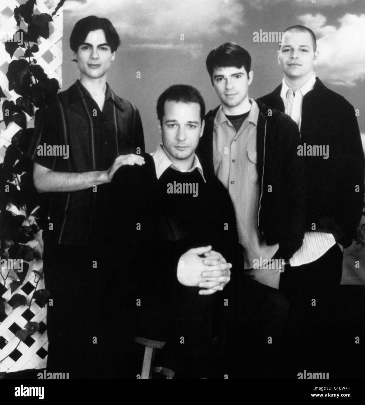 Die amerikanische Alternative Rock Band Weezer bestehend aus Brian Bell, Patrick Wilson, Matt Sharp und Rivers Cuomo, Stock Photo