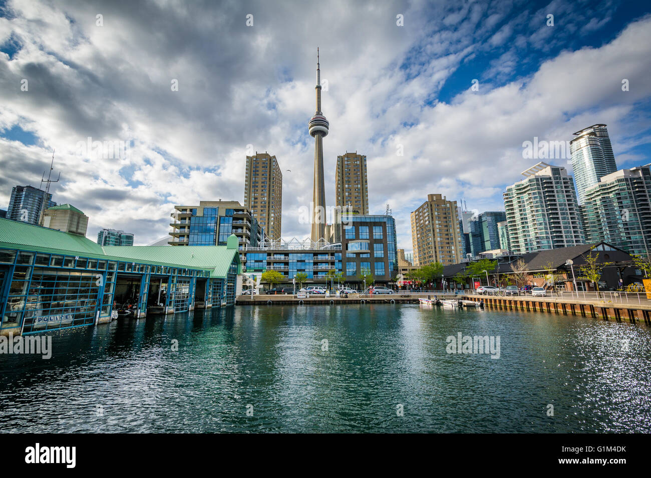 Buildings at the Harbourfront, in Toronto, Ontario. - Stock Image