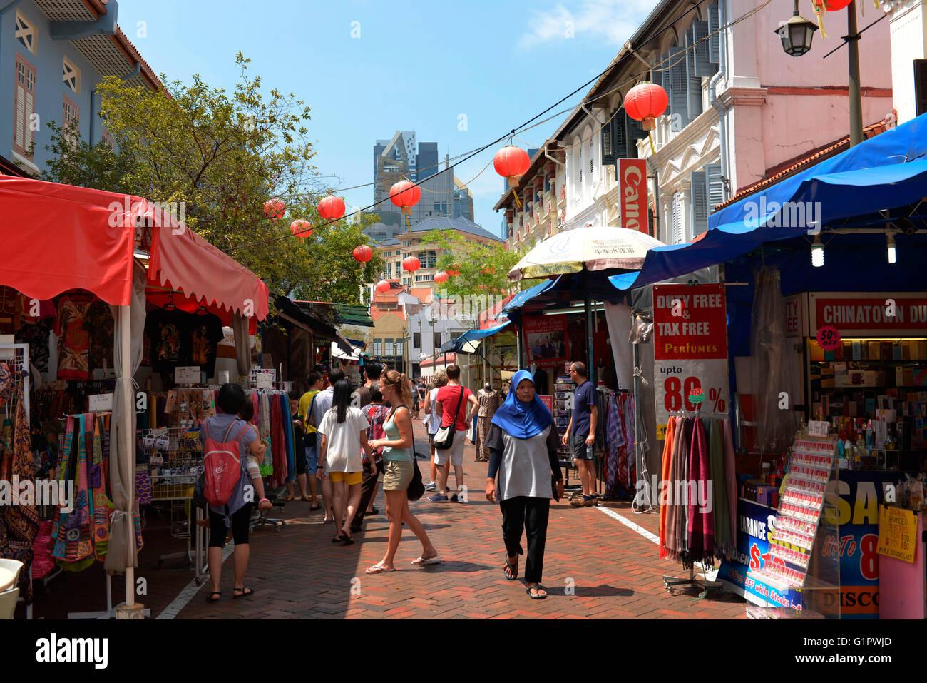 Pagoda Street, Chinatown, Singapur - Stock Image