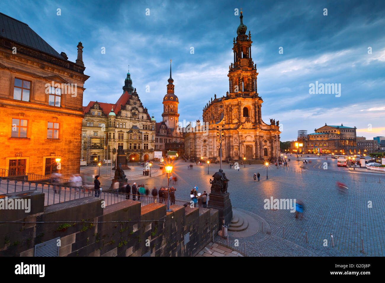 Historic architecture in the old town of Dresden, Germany. - Stock Image