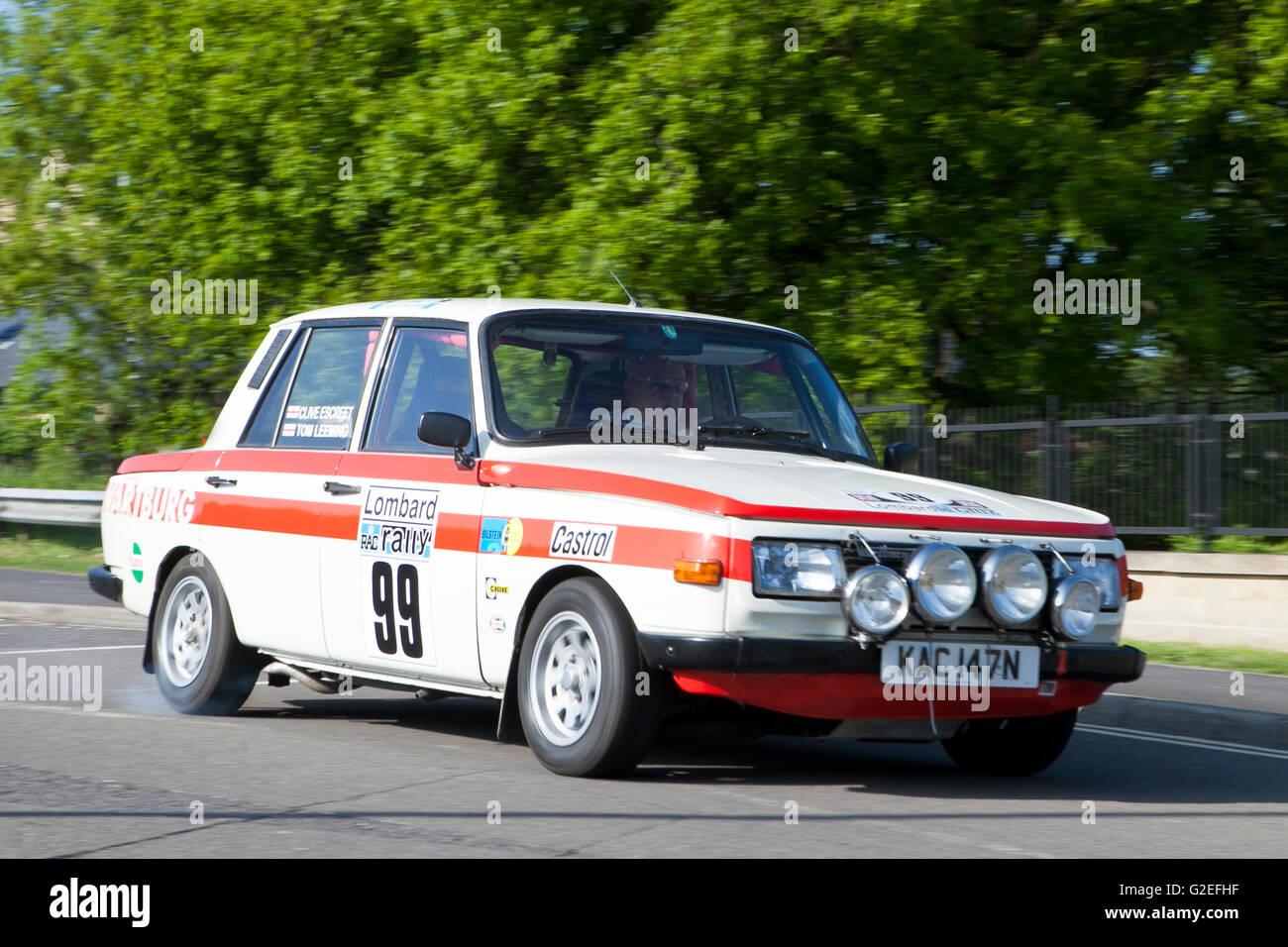 Skoda, classic, rally, sports, car, Pendle, Lancashire, UK. 29th May ...