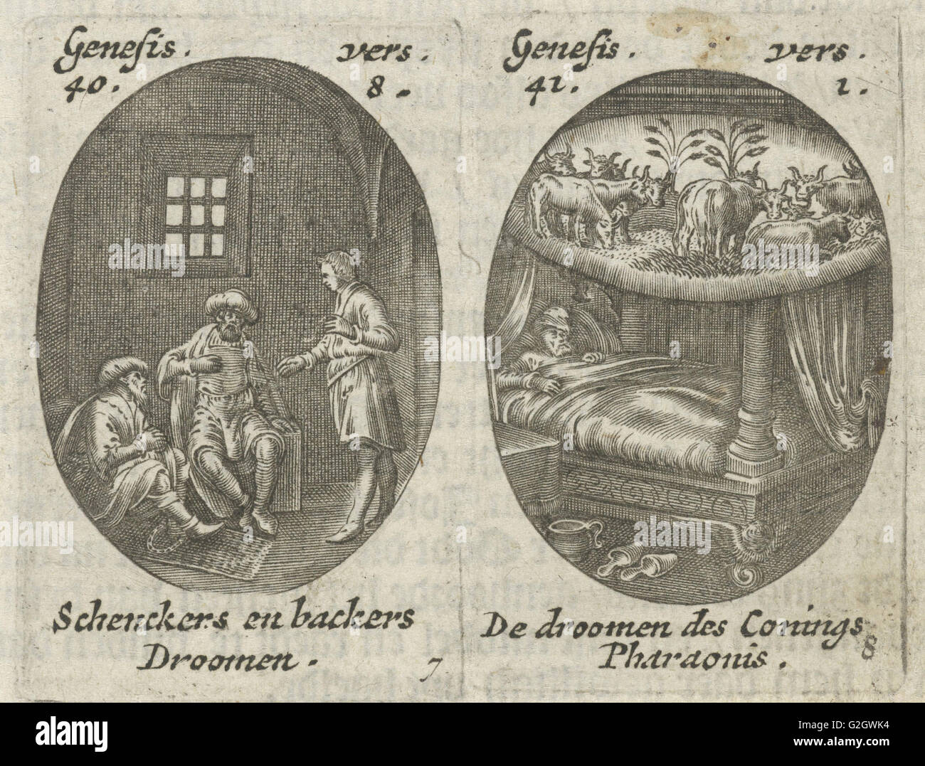 Joseph Explains Dreams Of Cupbearer And Baker The Dream Pharaoh Hans Janssen 1615