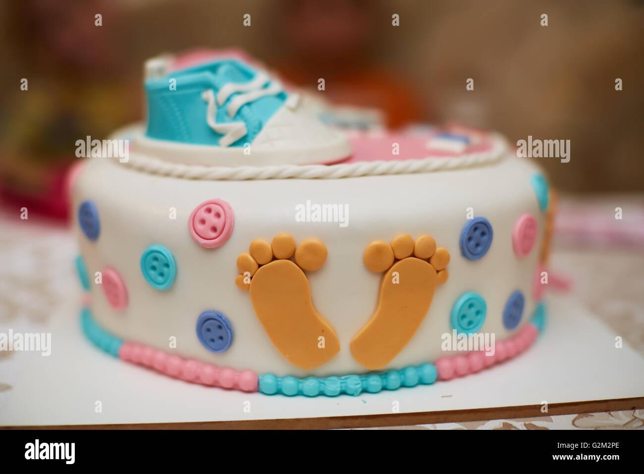 Delicious Birthday Cake On Table Stock Photo 104932758 Alamy