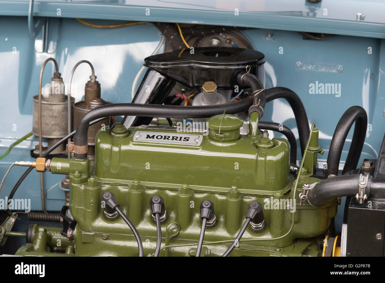Early 1960s BMC Mini, Morris petrol engine, England, UK - Stock Image